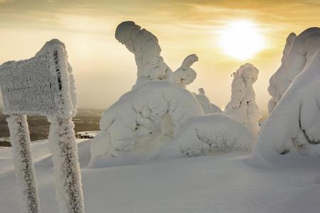 Schnee-Traumlandschaft Hotel Iso-Syöte