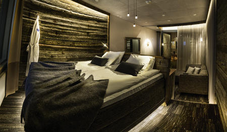 Schlafbereich der Nordlicht-Suiten