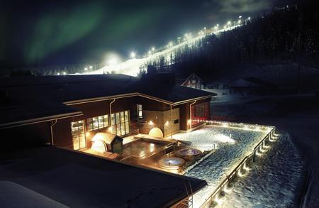 Weihnachten im Spahotel des Skiorts Levi