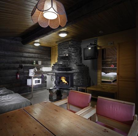 Log Cabin Gemütlich am Kamin