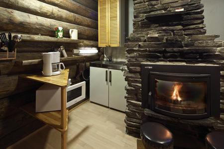 Log Cabin kleine Küchenecke