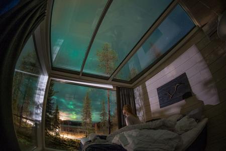 Mein Nordlichttraum unter Glas