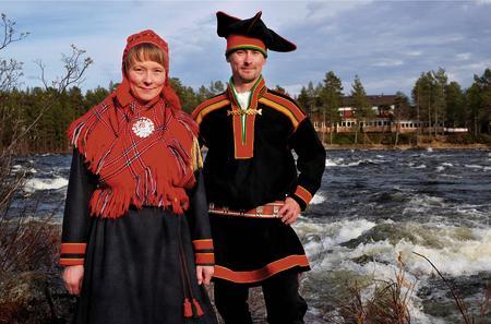 Eigentümerfamilie vom Hotel Inari Kultahovi, Kaisu und Heikki Nikula