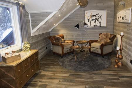 Wohnbereich in der Suite Rangifer