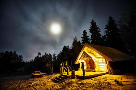 Außenaufnahme der Wikingerhütte