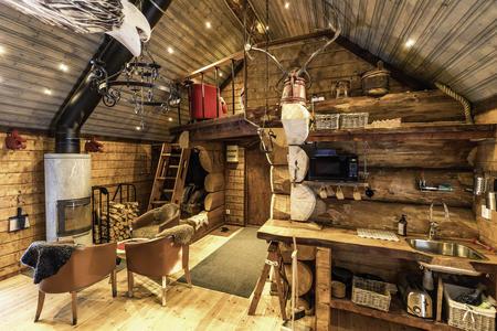 Wohnbereich der Wikingerhütte