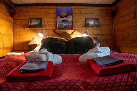 Schlafzimmer in der Wikingerhütte