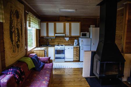 Küche, Wohnbereich im Ferienhaus