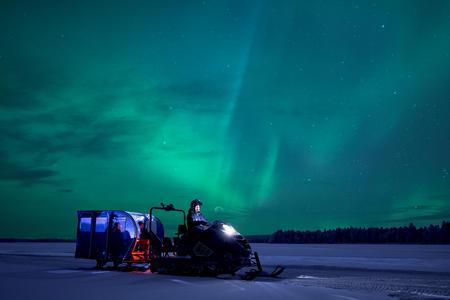 Polarlichtbeobachtungen aus dem Schneezug