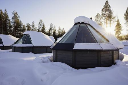 Außenansicht der Aurora Ferienhäuser